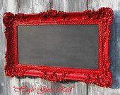 framed chalkboard...like the pop of red