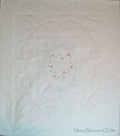 Latest Wedding Dress Quilt, made from Jeanette's wedding dress.