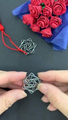 Cool Paper Crafts, Rope Crafts, Paper Crafts Origami, Diy Crafts Hacks, Diy Crafts For Gifts, Creative Crafts, Creative Project Ideas, Diys, Diy Gifts Videos