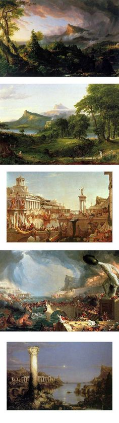 The rise and fall of a civilization in five paintings. - Imgur