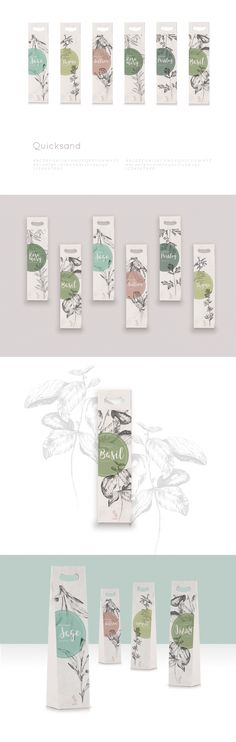 How pretty is this hand drawn collection of herbs? Credit: Herb Packaging by Monika Burzyńska Tea Packaging, Cosmetic Packaging, Brand Packaging, Organic Packaging, Brand Identity Design, Branding Design, Packaging Inspiration, Cover Art, Branding Agency