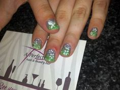 Butterfly flower ombre nail art