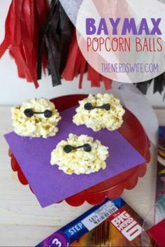 Baymax Popcorn Ball