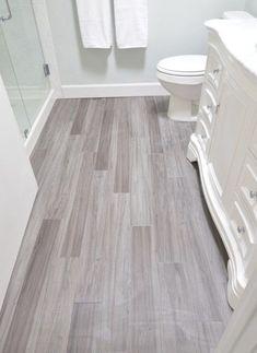 vinyl plank bathroom floor Traffic master grey maple