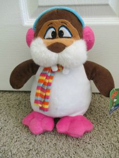 Winter Walrus Stuffed Animal with Pink Ear Muffs/Scarf  #ToyFactory