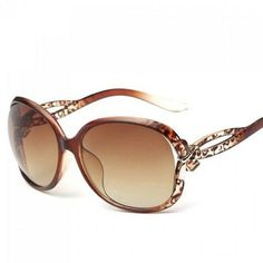 Chic Small Bow Embellished Leopard Pattern Ombre Sunglasses For Women