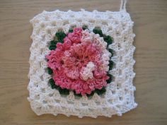 pink carnation potholder
