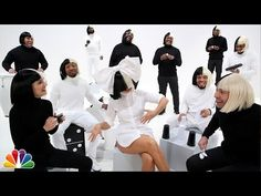 "Jimmy Fallon, Sia, Natalie Portman & The Roots Sing ""Iko Iko"" - YouTube"