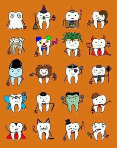 Halloween teeth tmprosthodontics - Expert in Dental Surgery in Miami wishes happy halloween. Dental Hygiene School, Dental Humor, Dental Assistant, Dental Hygienist, Oral Hygiene, Dental World, Dental Life, Dental Art, Happy Dental