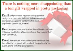 There is nothing more disappointing than a bad gift wrapped in pretty packaging. Ask your customers what they'd love to receive this year!