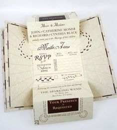Romance Managed - Harry Potter Inspired Wedding Invitation Suite.