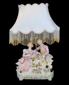 Capodimonte+Lamps   Capodimonte Figurine Lamp