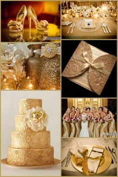 Gold Wedding Ideas / Are You Into Heavy Metal? « David Tutera Wedding Blog • It's a Bride's Life • Real Brides Blogging til I do!