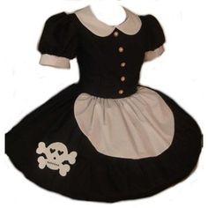 Cute Skull Gothic Rag Doll Dress Costume Large : MelanieGail - ArtFire Clothing