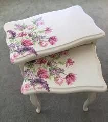 Shabby Chic Garden F - November 01 2018 at Decopage Furniture, Hand Painted Furniture, Paint Furniture, Repurposed Furniture, Shabby Chic Furniture, Furniture Projects, Furniture Makeover, Furniture Design, Decoupage Vintage