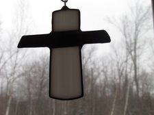 Black & White Cross, $15.00, let someone know you care!! www.stainedglasscountryhouse.com