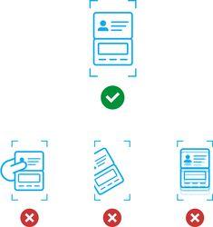 A imagem deve mostrar o documento/página por inteiro e não estar parcialmente…