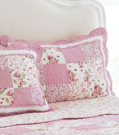 Sweet patchwork pillows. ://.worldstores.co.uk/