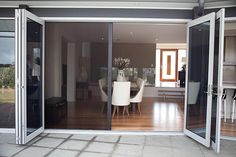 Possible insect screen solution for living room. We would like frameless concertina doors though. This is from Canterbury Windows.