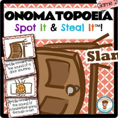 $ Figurative language FUN! This is an engaging way to teach ONOMATOPOEIA to your students!