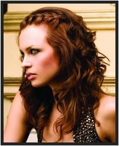A nice hairstyle if you are good with making a french braid and that too from the front and top section of your hair. You will need a curler and a paddle brush for the waves along with a fixing spray.