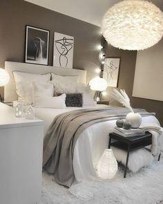 Home Decor Bedroom .Home Decor Bedroom Room Ideas Bedroom, Small Room Bedroom, Home Decor Bedroom, Master Bedroom, Bedroom Furniture, Queen Bedroom, Ikea Bedroom, Bedroom Wall, Bedroom Quotes