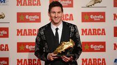 Messi recibe la tercera Bota de Oro