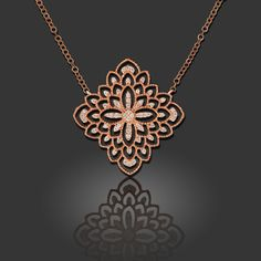 """V5 Rose Gold Diamond Necklace """"Meryle"""" model 31. This romantic necklace makes a beautiful birthday gift!"""