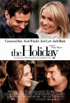 The Holiday Movie Perfect pairing - Jude Law with Cameron Diaz and Kate Winslet with Jack Black.LOVE this romantic holiday movie! Jude Law, Cameron Diaz, Amanda Diaz, James Cameron, Jack Black, See Movie, Movie Tv, Romantic Christmas Movies, Holiday Movies
