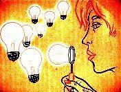 Omgaan met teveel ideeën in je hoofd: een aantal tips van de ideeënmaker n.a.v. een bijeenkomst voor hoogbegaafden. Het verminderen en ontladen van prikkels voor mensen die snel en sterk associatief denken.