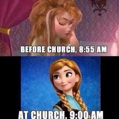 Lol this is funny but if you sing on the worship team, it's more like 6:55 A.M to start lol