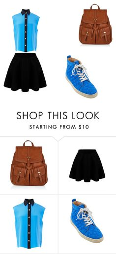 """""""Untitled #85"""" by closandmoreclose on Polyvore featuring Accessorize, FAUSTO PUGLISI and Christian Louboutin"""