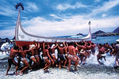 Ceremony for the first sail before Flying Fish festival  of Tao Moot people in Orchid Island, Taiwan