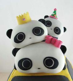 Panda cake b day party