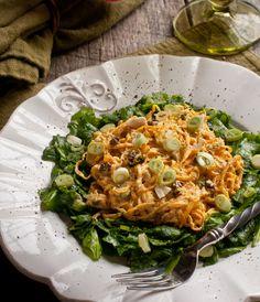 Raw Curried Squash Noodles on Spinach —Raw Food Rawmazing Raw Food