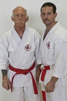 My Karate teacher Hanshi Gary Legacy and I.