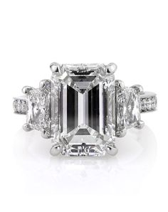 There's something classic & timeless about this emerald cut diamond ring from Mark Broumand. Love it!