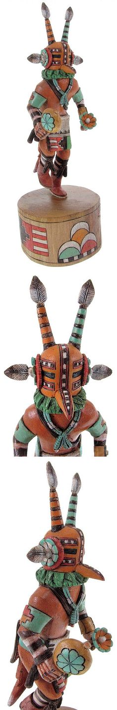 Hopi Mahu or Cicada Kachina doll Carving by Native American Artist Lauren Honyouti KS62004 http://www.silvertribe.com