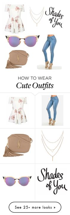 """""""Cute outfit out for the day """" by almanzaiteccy on Polyvore featuring Yves Saint Laurent and Fendi"""