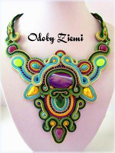 Ozdoby Ziemi: Naszyjnik sutasz Jejari Soutache #necklace #JewelrySoutache…