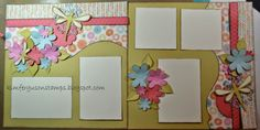 Kim Ferguson's Crafting Blog - Rubber Stamping and Scrapbooking: An Evening of Synergy... Spring Themed Layout #Hopscotch