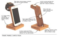 The Lignum Tower Watch & Phone Dock