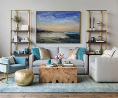 Large Cloud Abstract Art Painting On Canvas,Marine Landscape Oil Painting,Large Wall Canvas Painting,Large Wall Art Sea View Oil Painting Art Deco Living Room, Living Room Modern, Small Living, Living Room Furniture, Living Rooms, Rustic Furniture, Room Art, Sofa Furniture, Furniture Stores