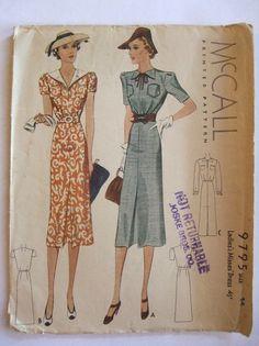 McCall 9795   1938 Ladies' & Misses' Dress