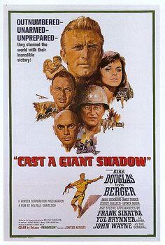 Cast a Giant Shadow (1966) Kirk Douglas, Angie Dickinson, Topol, Gordon Jackson, Michael Hordern, Jeremy Kemp, Senta Berger, James Donald