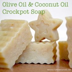 Easy Crock Pot Soap with Olive Oil & Coconut Oil