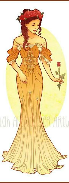 Art Nouveau Costume Designs VII: Belle by Hannah Alexander