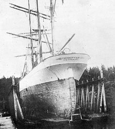 """British Clipper Ship """"Thermopylae"""", 1868-1907. Torpedoed at sea off the coast of Cascais, Oct. 13, 1907."""