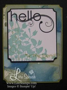 Stampin' Up Hello
