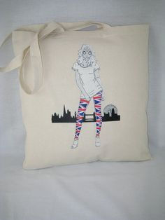 Tote Bag 100% Cotton Union Light Alice design 92aE by AliceBrands Fab, Fun Tops, Tees and Totes... http://etsy.com/uk/shop/AliceBrands http://alicebrands.co.uk/Categories/31/Tee+%27N%27+Totes